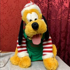"Disney Parks Elf Pluto Christmas 14"" Plush NWT"